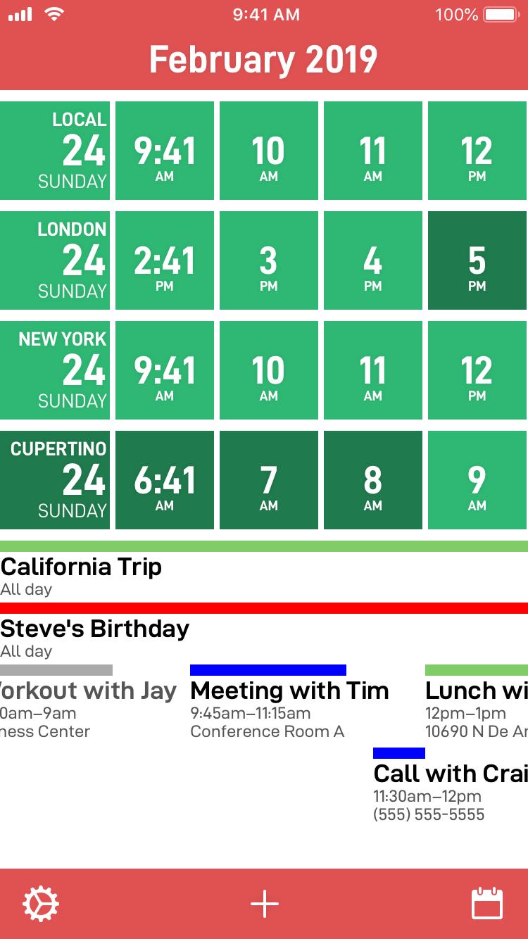Introducing CalZones: A Timezone Savvy Calendar - David